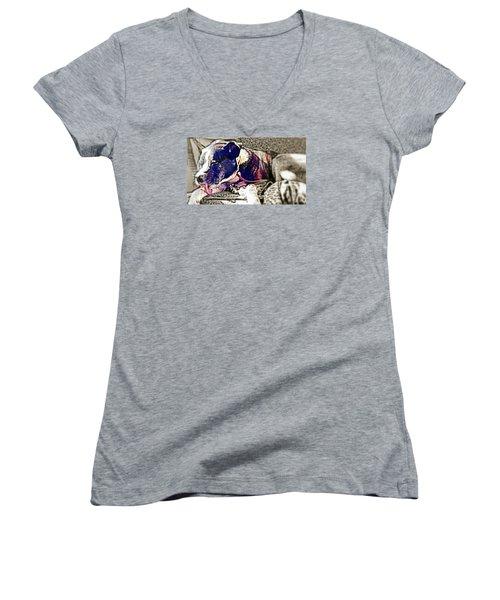 Sweet Ralphus  Women's V-Neck T-Shirt