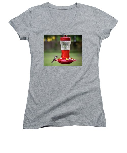 Sweet Sip Women's V-Neck T-Shirt (Junior Cut) by Denis Lemay