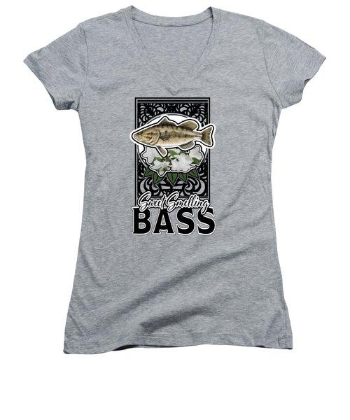 Sweet Smellin Bass Women's V-Neck T-Shirt