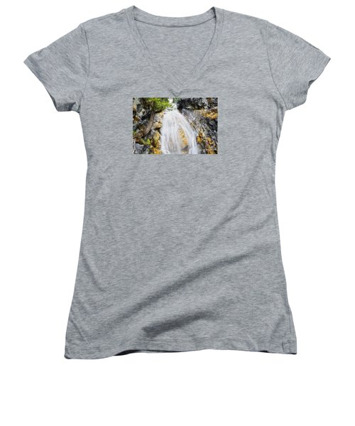 Women's V-Neck T-Shirt (Junior Cut) featuring the photograph Sweet Surrender by Janie Johnson