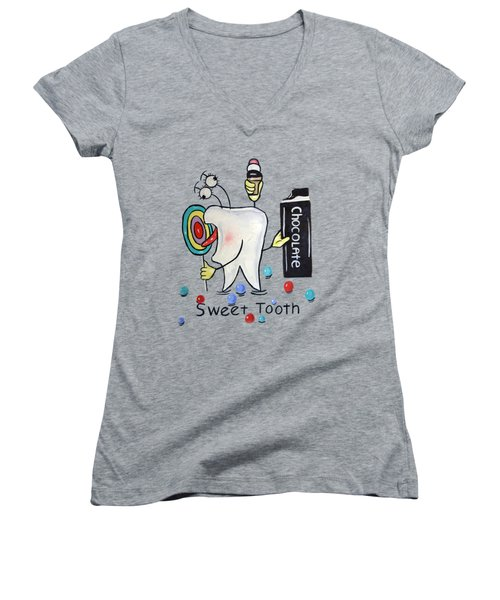 Sweet Tooth T-shirt Women's V-Neck