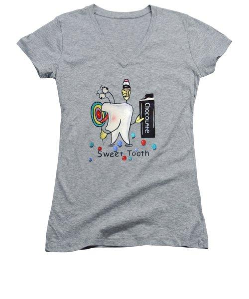Sweet Tooth T-shirt Women's V-Neck