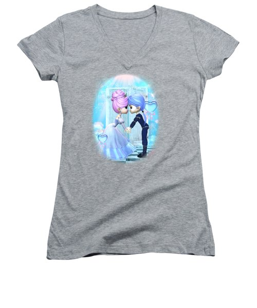 Sweetheart Dreams Women's V-Neck T-Shirt (Junior Cut) by Brandy Thomas