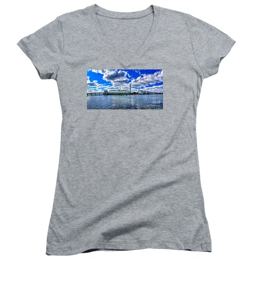 Swing Bridge Heaven Women's V-Neck
