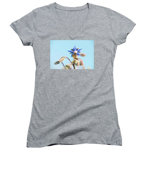 Women's V-Neck featuring the photograph Swingin On A Star by Brian Hale