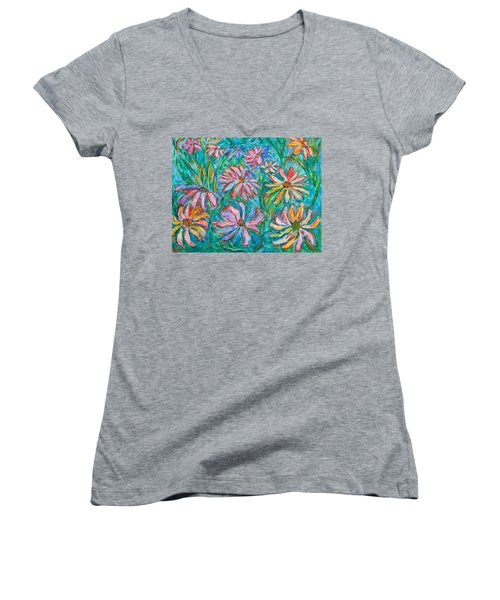Swirling Color Women's V-Neck