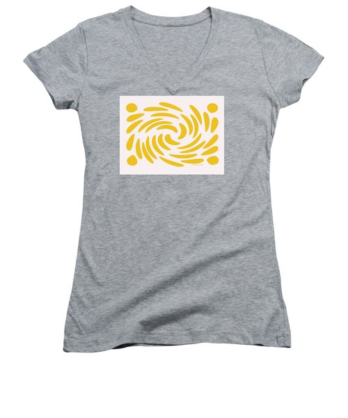 Swirls N Dots S3 Women's V-Neck