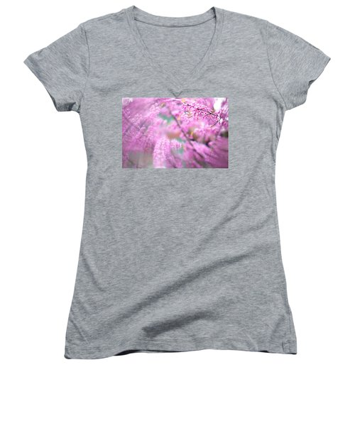 Swirls Of Spring Women's V-Neck