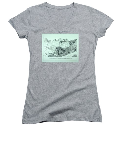 Swiss Alpine Cabin Women's V-Neck T-Shirt