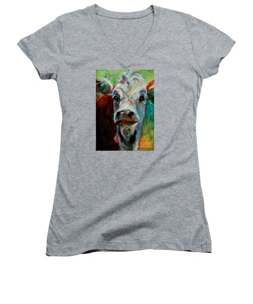 Swiss Cow - 1 Women's V-Neck (Athletic Fit)