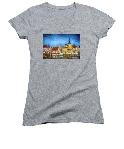 Swiss Town Women's V-Neck T-Shirt