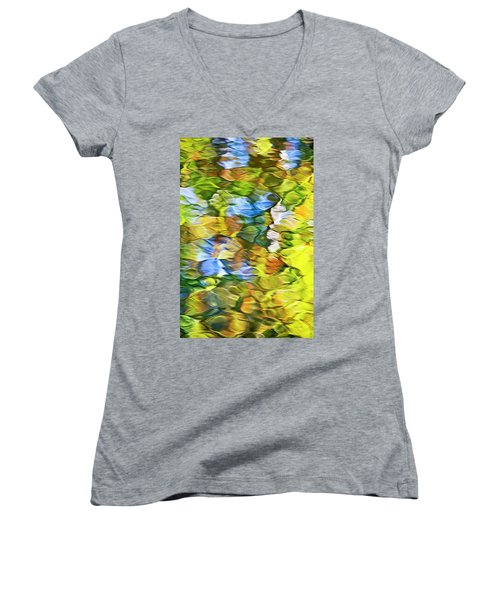 Women's V-Neck T-Shirt featuring the photograph Sycamore Mosaic by Christina Rollo