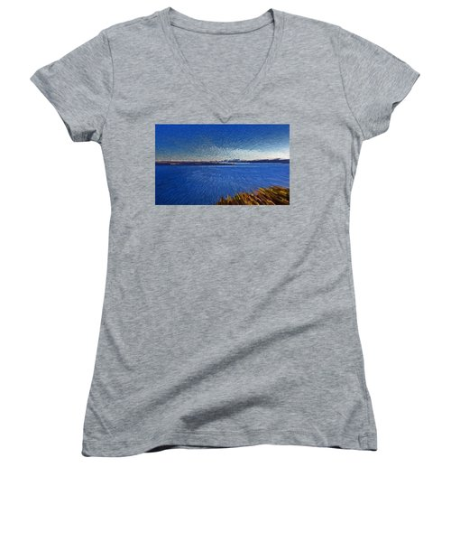 Sydney From North Head Women's V-Neck (Athletic Fit)
