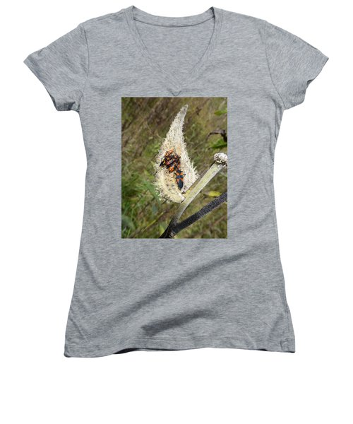 Women's V-Neck T-Shirt featuring the photograph Symbiosis by Joel Deutsch
