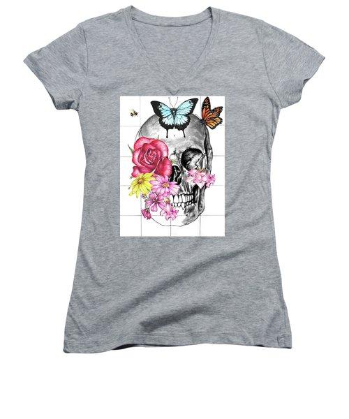 Symbol Of Change 2 Women's V-Neck T-Shirt (Junior Cut) by Heidi Kriel