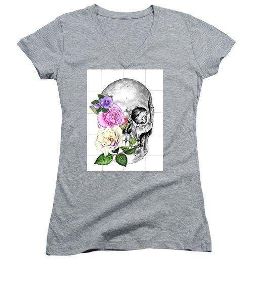 Symbol Of Change Women's V-Neck T-Shirt (Junior Cut) by Heidi Kriel