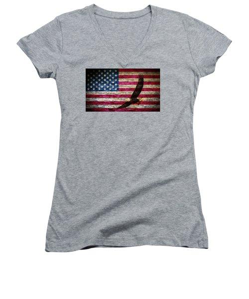 Symbol Of Freedom Women's V-Neck (Athletic Fit)