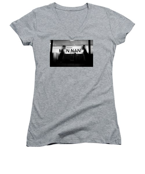 Women's V-Neck T-Shirt (Junior Cut) featuring the photograph Table For Two by Valentino Visentini