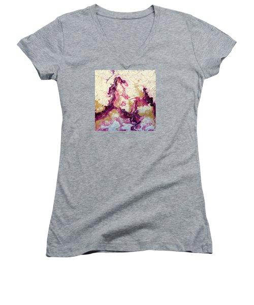 Tables Always Turn Women's V-Neck T-Shirt (Junior Cut) by Tracy Bonin