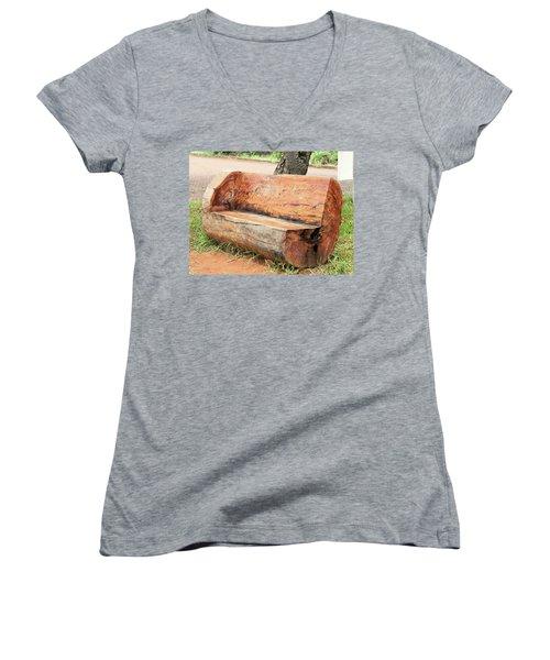 Taburete Women's V-Neck T-Shirt (Junior Cut) by Beto Machado