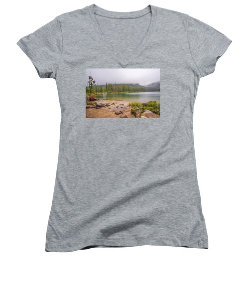 Taggert Lake Grand Teton Women's V-Neck T-Shirt