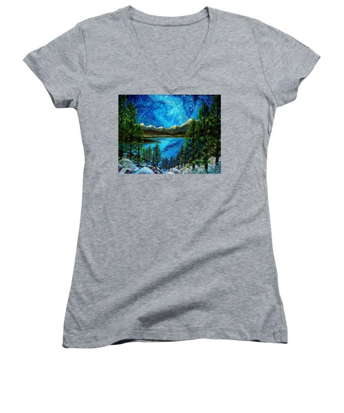 Tahoe A Long Time Ago Women's V-Neck T-Shirt