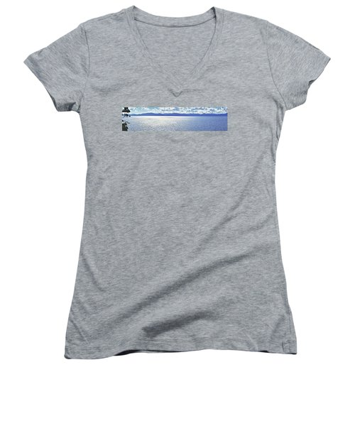 Tahoe From The East Shore Women's V-Neck (Athletic Fit)