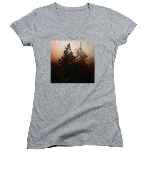 Tahoe Pines Women's V-Neck T-Shirt
