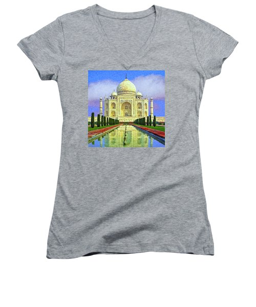 Taj Mahal Morning Women's V-Neck