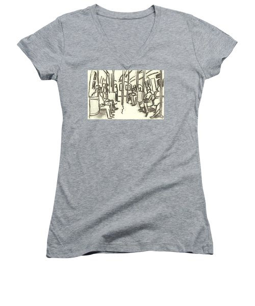 Take The A Train, Nyc Women's V-Neck (Athletic Fit)