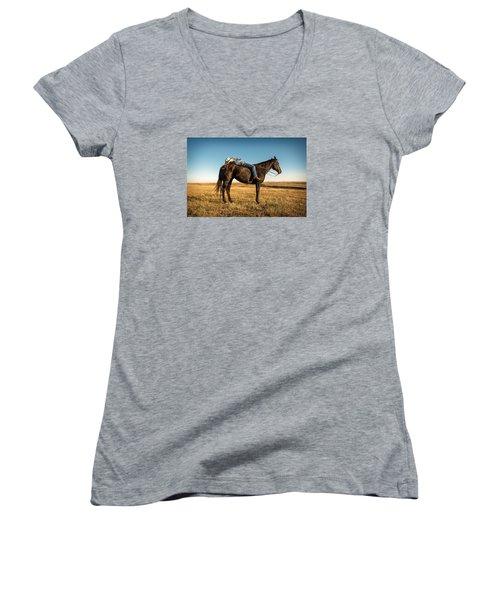Taking A Snooze Women's V-Neck T-Shirt (Junior Cut) by Todd Klassy