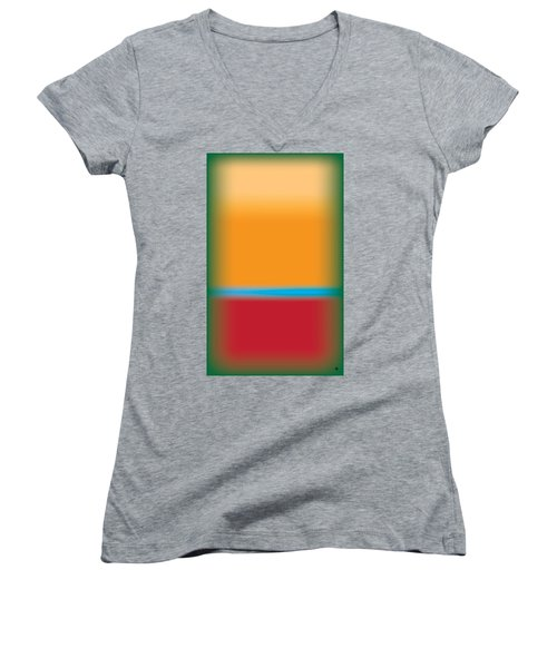 Tall Abstract Color Women's V-Neck