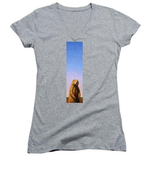 Tall Prairie Dog Women's V-Neck