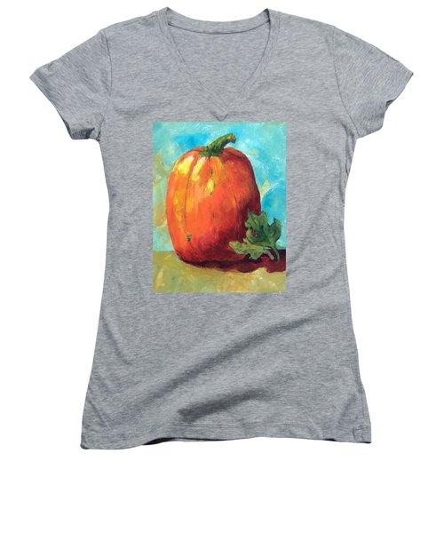 Tall Pumpkin Women's V-Neck