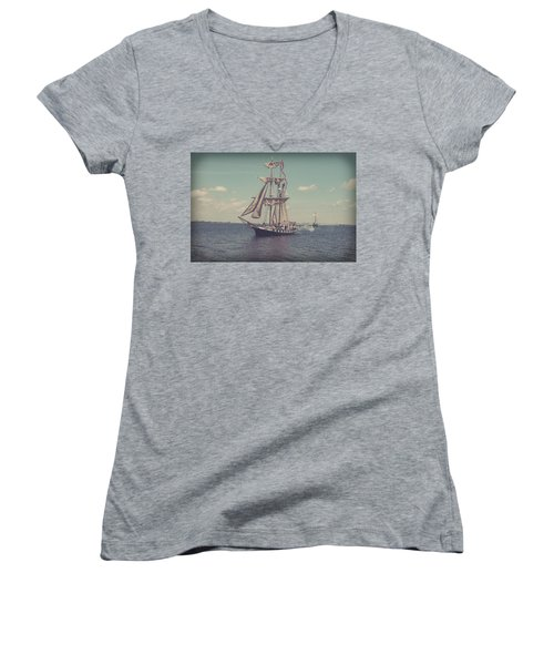 Tall Ship - 3 Women's V-Neck