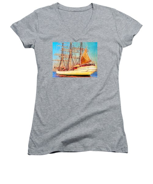 Tall Ship Women's V-Neck