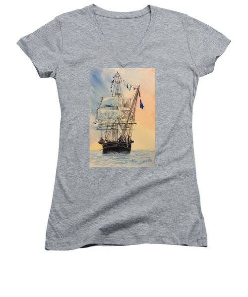 Tall Ship Women's V-Neck (Athletic Fit)