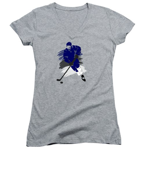 Tampa Bay Lightning Player Shirt Women's V-Neck T-Shirt (Junior Cut) by Joe Hamilton