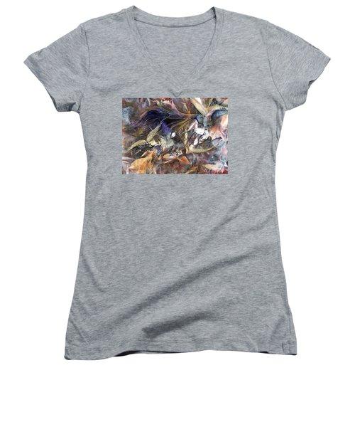 Tango Birds Women's V-Neck T-Shirt