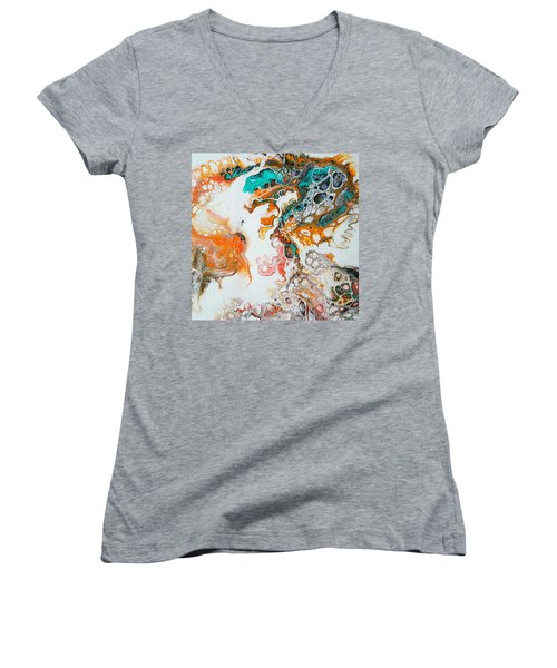 Tango With Turquoise Women's V-Neck