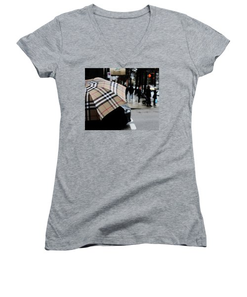 Women's V-Neck T-Shirt (Junior Cut) featuring the photograph Tap Me On The Shoulder  by Empty Wall