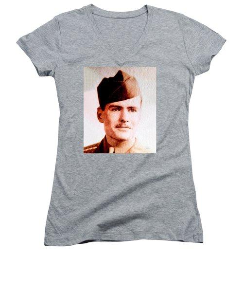 Tawson Clare Wall Avon Wwii Hero Women's V-Neck T-Shirt