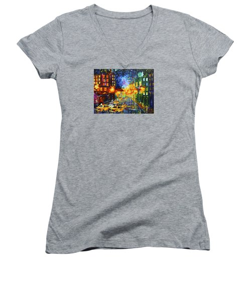 Taxi Cabs Women's V-Neck