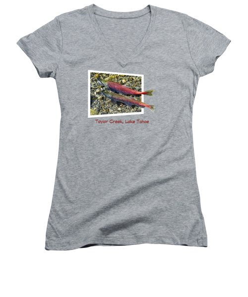 Taylor Creek, Lake Tahoe Women's V-Neck T-Shirt (Junior Cut)