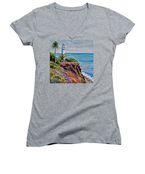 #tbt #artist#impressionism Women's V-Neck T-Shirt (Junior Cut) by Jennifer Beaudet