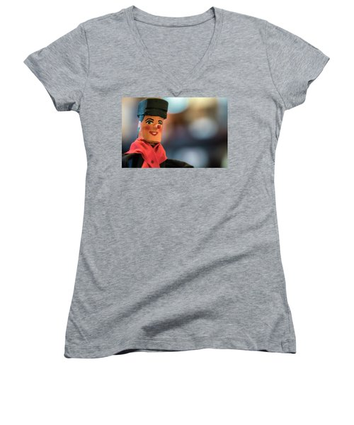Women's V-Neck T-Shirt featuring the photograph Tchantches by Jeremy Lavender Photography