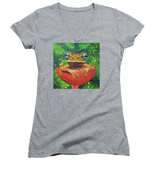 Tea Cup Treasures  Women's V-Neck T-Shirt