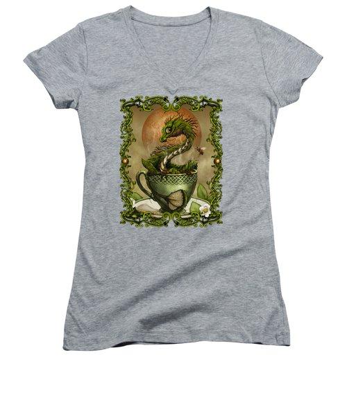 Tea Dragon T- Shirt Women's V-Neck