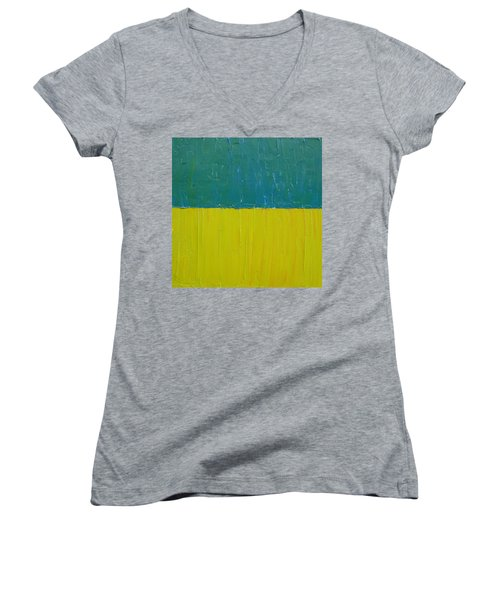 Teal Olive Women's V-Neck