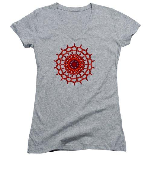 Teardrop Fractal Mandala Women's V-Neck